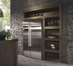 Afbeeldingsresultaat voor amerikaanse koelkast verwerken in keukenontwerp