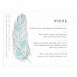 Feather Plantable Wedding Menu - As Low As $1.00 Each