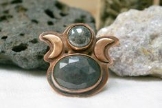 Triple Moon Goddess, Elder Futhark Runes, Witch Fashion, Copper Sheets, Witch Aesthetic, Copper Rings, White Gift Boxes, Antique Copper, Natural World