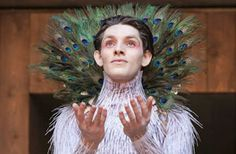 Colin Morgan as Ariel in the 2013 production of 'The Tempest' at the Globe