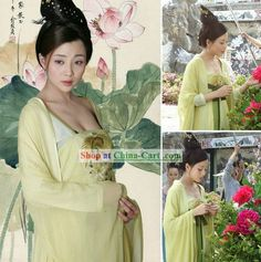 Ancient Chinese Tang Dynasty Yang Guifei Women Clothing