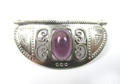 Jugendstil Brosche 900 Silber Amethyst um1900 Boheme silver brooch pN6