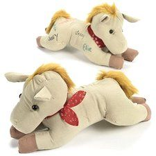"""Horse Party - Western Party - Fabric Autograph Horse. This fabric horse is a great way to collect signatures at your next Horse theme or Western theme party! Dressed in a red bandanna, this cute 11"""" horse will be a favorite with cowboys, cowgirls and other rodeo fans! Find it at http://www.ezpartyzone.com/pd-horse-party-fabric-autograph-horse-1.cfm"""