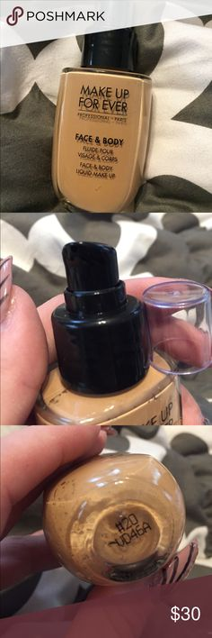 Brand new Makeup Forever Face and Body foundation Brand new, never used Makeup Forever Face and Body, water based light coverage foundation in #20. I no longer have the box it came in, but it's never been used and is completely full. Offers and bundles welcome. Makeup Forever Makeup Foundation
