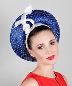 Fashion hat Blue Venus louise Macdonald Milliner 2017