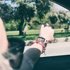 On the road again...  #UORoadTrip #UOonYou #bracelets #urbanoutfitters