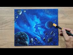 Asteroid, Nebula, Space Art | Acrylic Painting | Step By Step For Beginners - YouTube Future Videos, Step By Step Painting, Acrylic Canvas, Space, Artwork, Youtube, Floor Space, Work Of Art, Auguste Rodin Artwork