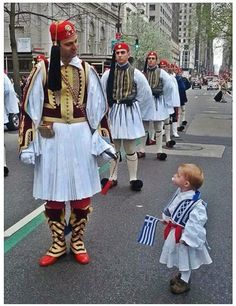 traditional Greek fighters aka infantry men. Celebrating Greek Independence Day😎