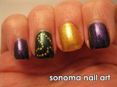 Sonoma Nail Art: Mardi Gras Nails