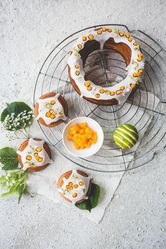 ... elderflower lime mango cakes ...