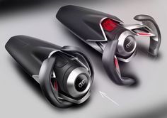 SPD - Concept Car Steering Wheel Design Sketches - Car Body Design.