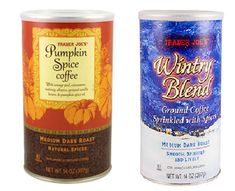 RARE FIND! TRADER JOE'S WINTRY BLEND COFFEE / PUMPKIN SPICE COFFEE LARGE 14 OZ #TRADERJOES
