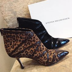 Have you ever seen more beautiful heeled booties than these?!? Stefan Meuwissen did it again! @ www.labottega.be