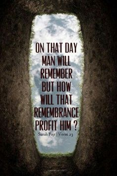 The is what we should remember during salah so we can profit from it now before it's too late.