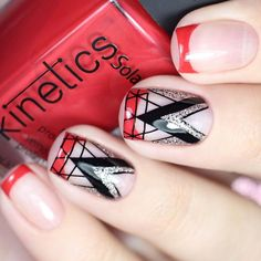 Many ladies likes French manicure and even more like a modern French manicure with red lacquer on top of nails instead of white. I am one of them!