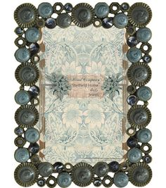 Mixed Company 4x6 Frame with Blue/Gray Jewels:Table