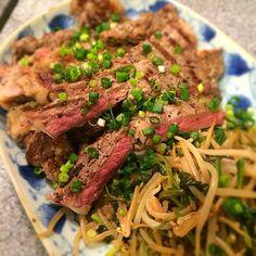 Aussie beef steak w/butter and truffle salt