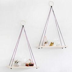 Hanging Shelves | Simple Living Room Shelving Ideas