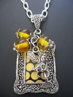 Bee Jewelry Necklace  Bee Necklace  Bee With Honey by jewelryrow, $23.00 https://www.etsy.com/listing/78089072/bee-jewelry-necklace-bee-necklace-bee