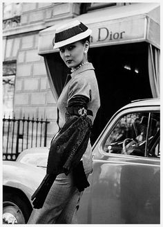 Alla in suit by Christian Dior, 1951   Flickr - Photo Sharing!