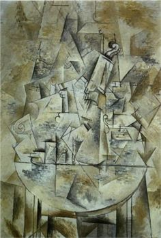 Pedestal Table - Braque, Georges (French, 1882 - Fine Art Reproductions, Oil Painting Reproductions - Art for Sale at Galerie Dada Georges Braque, Pablo Picasso, Picasso And Braque, Cubist Paintings, Cubism Art, Cubist Drawing, Kandinsky, Kazimir Malevich, Art Moderne
