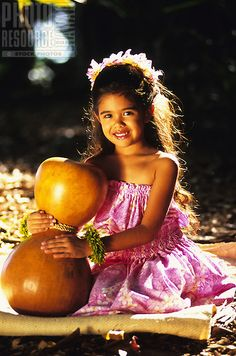 Young Gabrielle from Halau Hula O Hokulani, Honolul, Hawaii