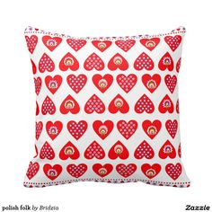 polish folk pillows
