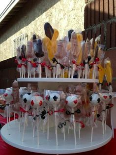 Suited cakes pops and pee pee suckers