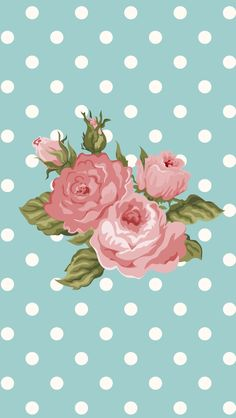 Floral roses spots iphone phone wallpaper background lockscreen