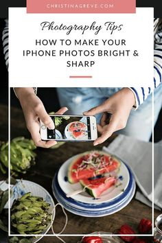 Learn how to edit your iPhone photos and get bright and sharp pictures in just a few steps. Editing is easy and your photos will look great. Selected by Food Photography Tips, Iphone Photography, Mobile Photography, Photography Tutorials, Photography School, Photography Courses, White Photography, Travel Photography, Learn Photography