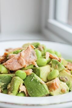 Healthy Dinner Option: Salmon Avocado Bowl | Clean Eating Diet Plan Meal Plan and Recipes