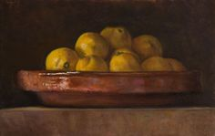 painting of A Bowl of Lemons