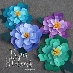 12 Step By Step DIY Papers Made Flower Craft Ideas for Kids - Diy Craft Ideas & Gardening