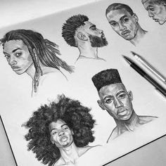 Drawings Studies by Tomasz Mro Guy Drawing, Character Drawing, Drawing Sketches, Painting & Drawing, Drawing Hair, Cartoon Drawings, Art Drawings, Arte Sketchbook, Drawing Studies