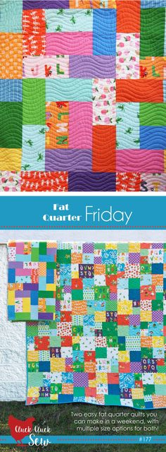 Fat Quarter Friday, 2 easy quilts in one pattern