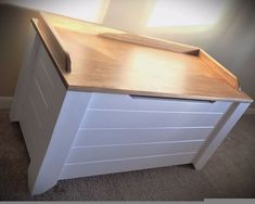 farmhouse style toy box blanket chest, painted furniture