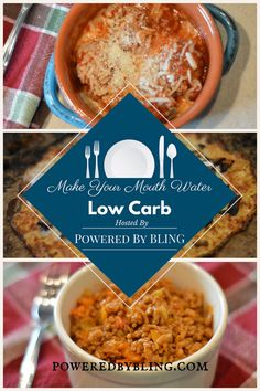 Make Your Mouth Water: Low Carb. Looking for a recipe idea that will help you reach your goals in a healthy way? These ideas pack a nutritious punch in a quick, easy way. Most of them can be made ahead and used all week to fuel your goals - Powered By BLING