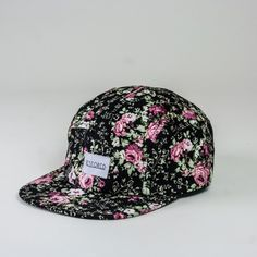 Black floral 5-panel cap from Restored 58c51303c71a