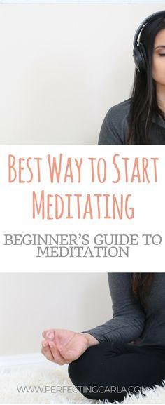 Best way to start meditating.  Meditation for beginners.  How to meditate for beginners.  How to #yogaforbeginnersanxiety