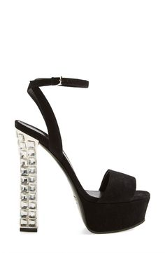 Wow. Gucci platform sandal with crystal heel.