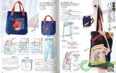 旧牛仔裤改包包-创意生活,手工制作╭★肉丁网