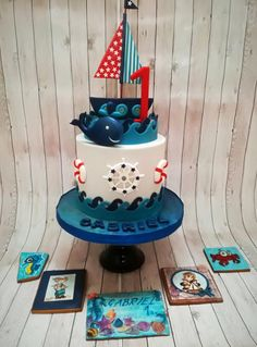 Sailor cake and Cookies for Gabriel's 1st Birthday