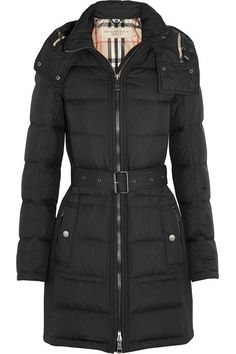Burberry Brit Quilted Down Coat, $795; net-a-porter.com Courtesy of - ELLE.com