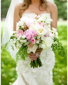 Spring bridal arrangement