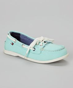Another great find on #zulily! Light Blue Daphnee Boat Shoe by Tommy Hilfiger #zulilyfinds