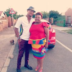 My traditional outfit, inspired by ndebele culture. My better half toned down with a white shirt decorated with a rainbow of Ndebele colours. My Better Half, Traditional Outfits, Ali, I Am Awesome, Meme, Rainbow, Colours, Bride, Inspired