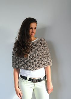 Hey, I found this really awesome Etsy listing at https://www.etsy.com/listing/210841070/extra-chunky-poncho-cowl-wrap-shawl