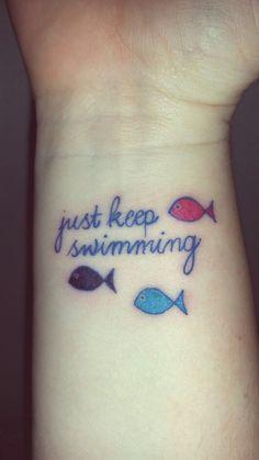 My new 'Just Keep Swimming' tattoo!