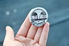 Moustache man Brooch by ireneagh on Etsy