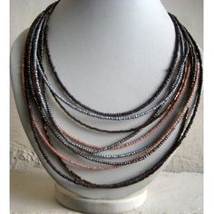 Necklace/Statement Necklace/Multi Color by FootSoles on Etsy, $22.80